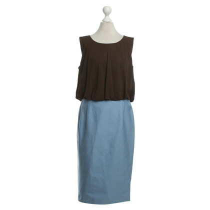 Escada Vestito in blu/marrone