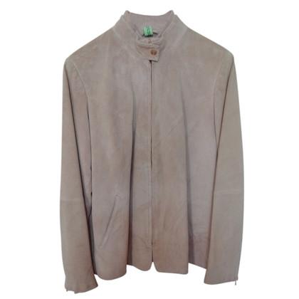 Marina Rinaldi Suede jacket in Altrosa