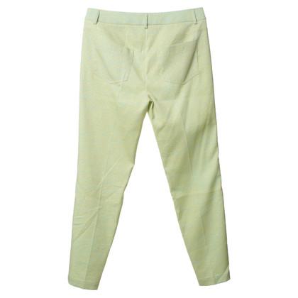 Luisa Cerano Gedessineerde broek groen/geel