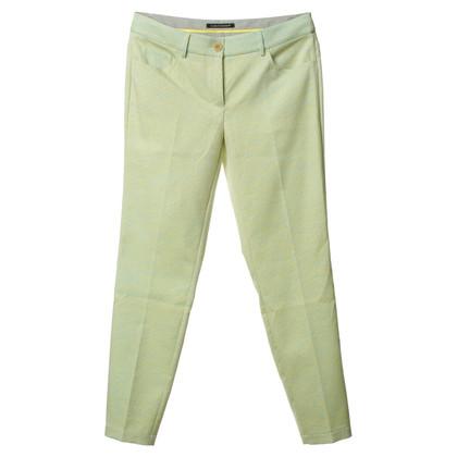 Luisa Cerano Pantalon motif vert/jaune
