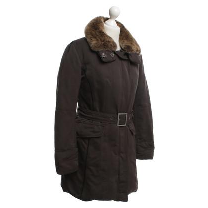 Peuterey cappotto invernale con bordo in pelliccia