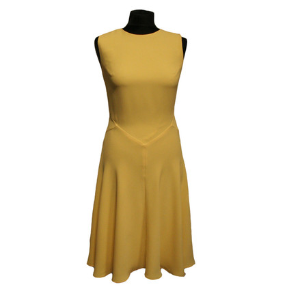 Iris & Ink Dress in bright yellow