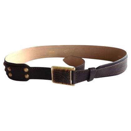 Roberto Cavalli Cintura marrone con fibbia di istruzione