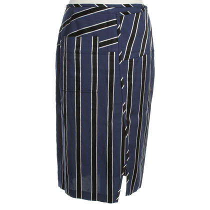 Acne skirt with stripe pattern