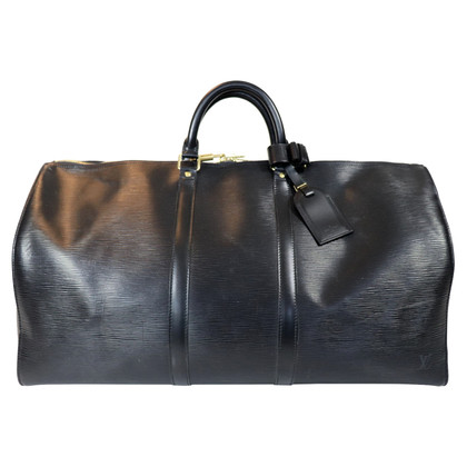 Louis Vuitton Keepall 55 Epi Leather Black