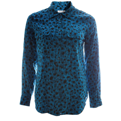 Equipment Seidenbluse mit Leopardenmuster