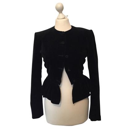 Max Mara giacca di velluto nero