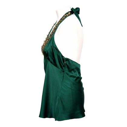 BCBG Max Azria Silk Top in Green