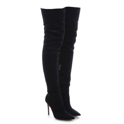 Gianvito Rossi Overknees in midnight blue