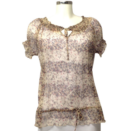 Bloom Silk blouse with a floral pattern