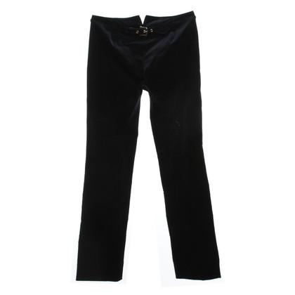 Gucci Fluwelen broek in donkerblauw