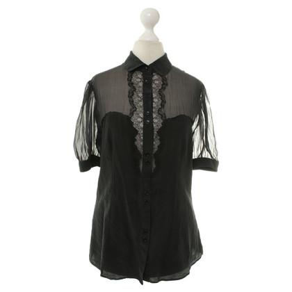 Dolce & Gabbana Korte mouw blouse in zwart