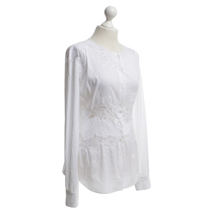 Ermanno Scervino Blouse in wit met kant