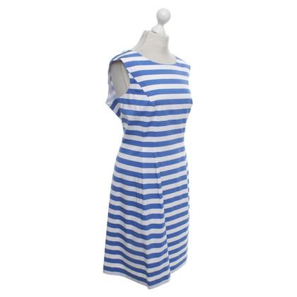 Luisa Cerano Kleid in Blau/Weiß