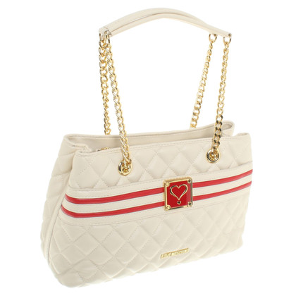 Moschino Love Handtasche in Cremeweiß