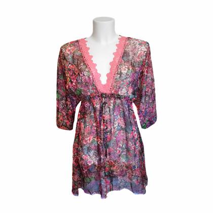 Blumarine Kleid aus bunter Seide