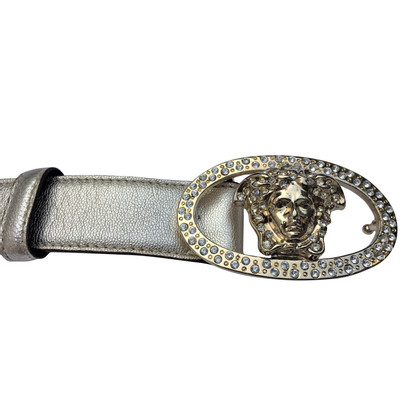 Versace golden leather belt
