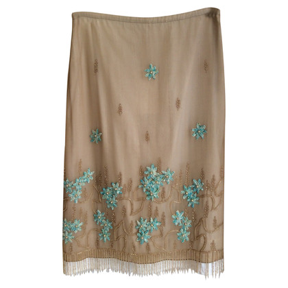 Schumacher skirt with embroidery