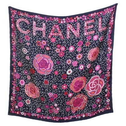 Chanel Foulard en soie avec imprimé