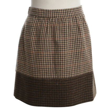 J. Crew skirt with check pattern
