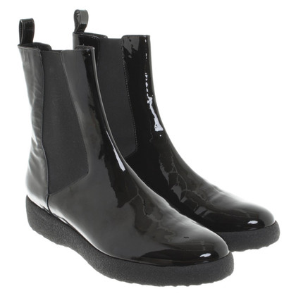 Robert Clergerie Patent leather Chelsea boots