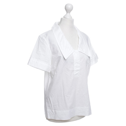 Viktor & Rolf Short-sleeved blouse in white