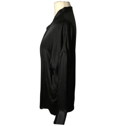 Van Laack camicetta di seta in nero