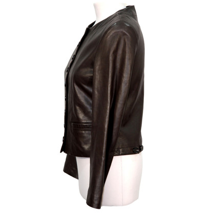 Hobbs Leather Jacket in Bruin