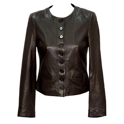 Hobbs Leather Jacket in Brown