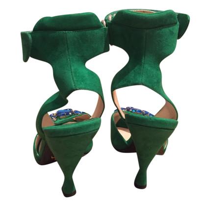 Prada Wildleder-Sandaletten