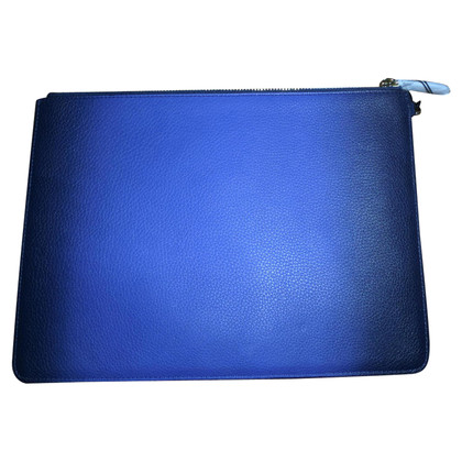 Diane von Furstenberg Leather clutch in blue