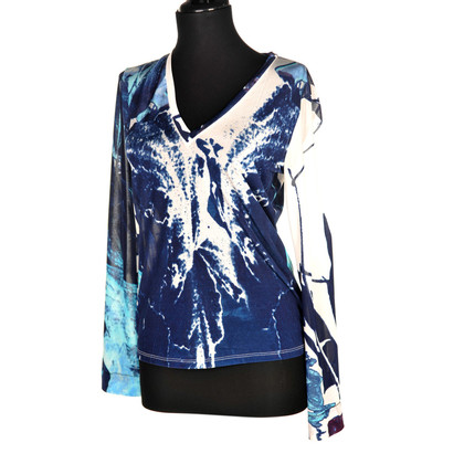 Just Cavalli Blouse in Blue / White