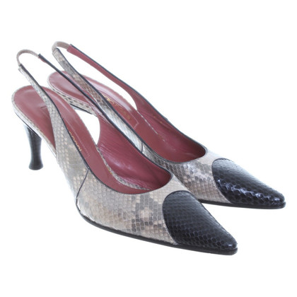 Sergio Rossi Sling-backs from Python leather