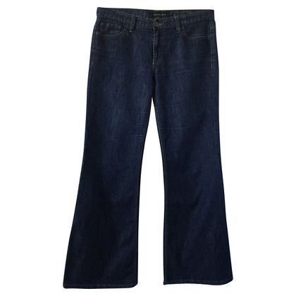 Calvin Klein Jeans bleu foncé « Wide Leg Mid Rise »