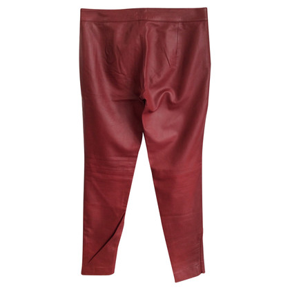 Iris & Ink Leather pants in red