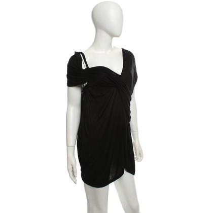 Lanvin C4341a8d noir avec des draperies