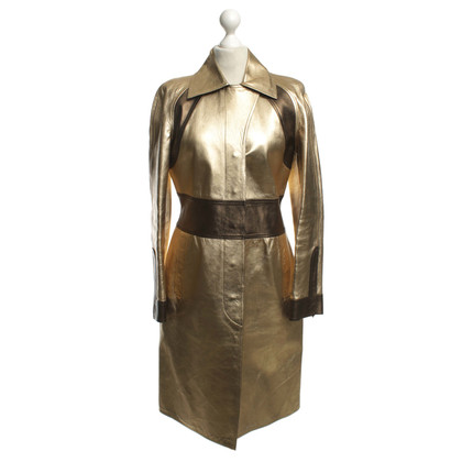 Gucci Gold-colored leather coat