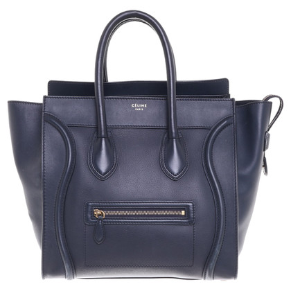 "Céline ""Mini Luggage Bag"" in Marineblau"