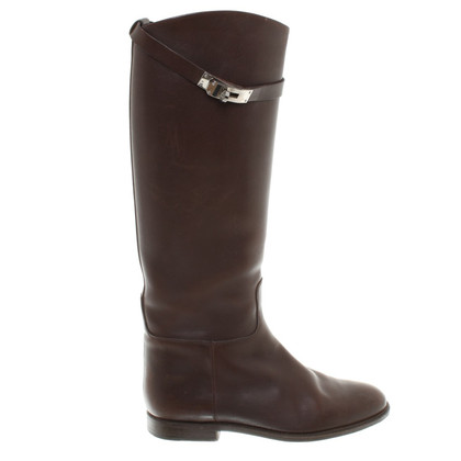 Hermès Brown leather boots