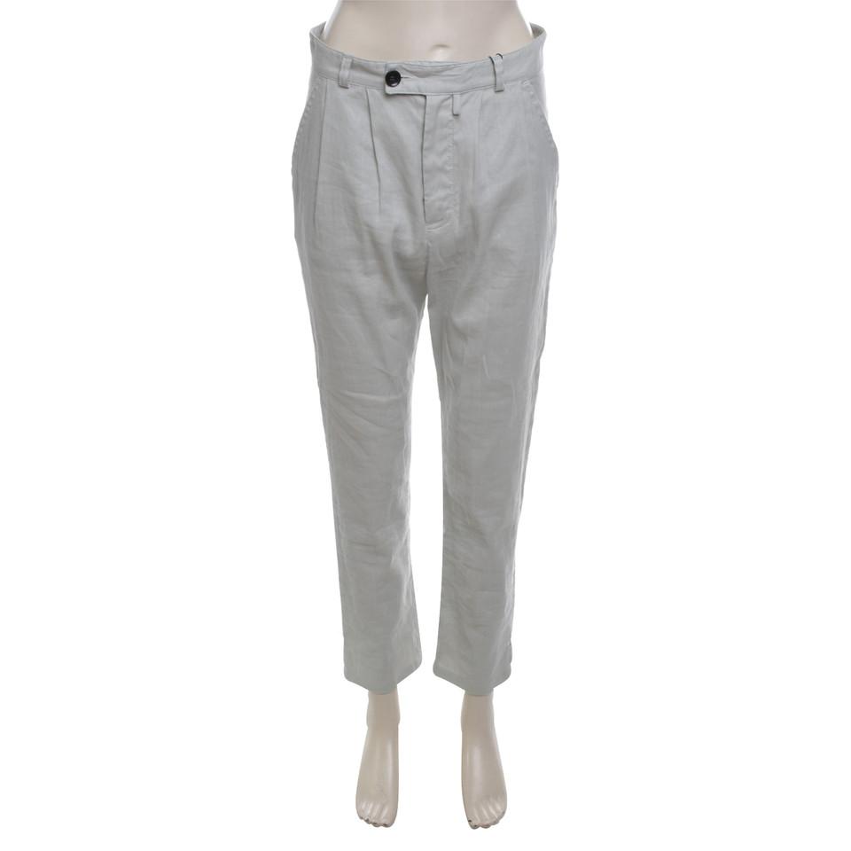 Bruuns Bazaar pantaloni di lino in grigio