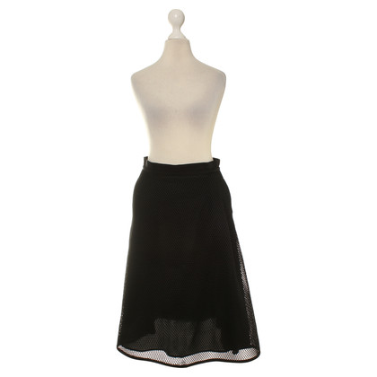 Other Designer Sea - circle skirt in grid look