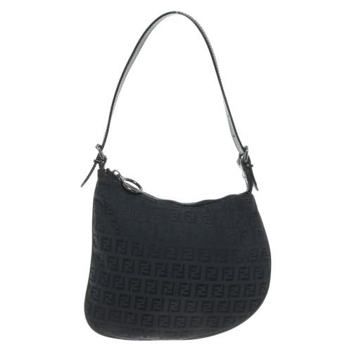 Fendi Handbag with Zucca pattern - Second Hand Fendi Handbag with ... 75291ad179783