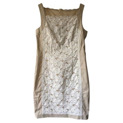 Riani Kanten jurk beige wit 36