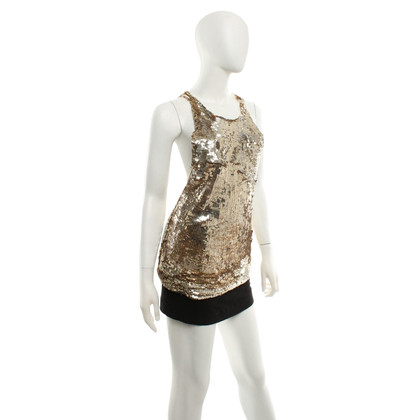 Elisabetta Franchi Gold-colored sequin top
