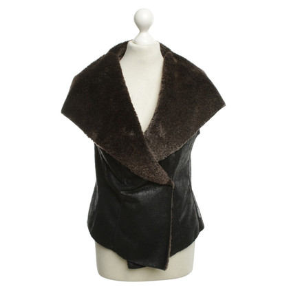 Marc Cain Lined Vest in Brown