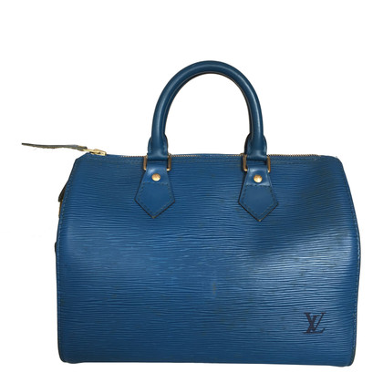 """Louis Vuitton """"Speedy 25 Epi Leder"""" in Blau"""