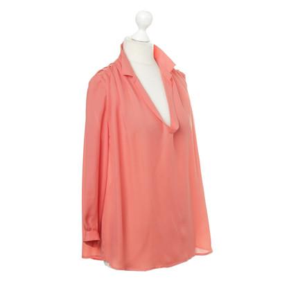 Filippa K Zijde blouse in Corallfarben