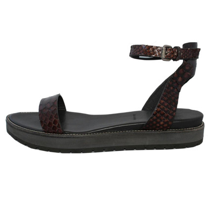 Brunello Cucinelli Sandals Python Leather