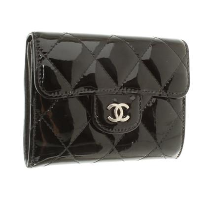 Chanel Schwarzes Portemonnaie