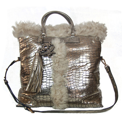 MCM Handbag in crocodile leather look